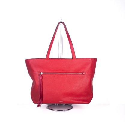 Bolsa Schutz Handbag Shopping Chaveiro Franja Vermelho