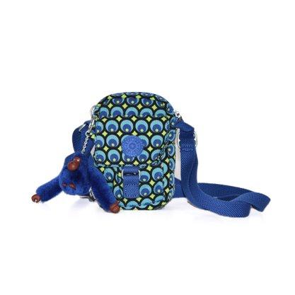 Bolsa Shoulder Bag Kipling Peacock Azul e Verde