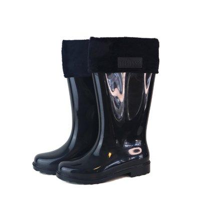 Bota Galocha Melissa Winter Boot Preta