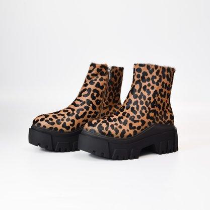 Coturno Carrano Pelo Leopardo