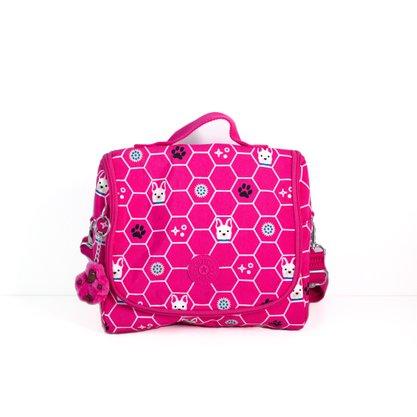Lancheira Kipling Rosa pink Dog Tile