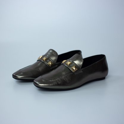 Loafer Carrano Couro Metal
