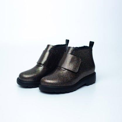 Mini Melissa Chelsea Boot Preta Gliter