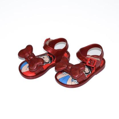 Mini Melissa Mas San Princesas Vermelho Glitter