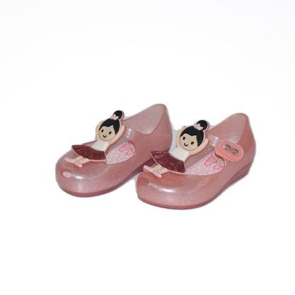 Mini Melissa Ultra Girl Ballerina Rosa/Preto