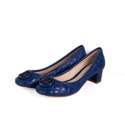 Sapato Capodarte Couro Matelasse Azul