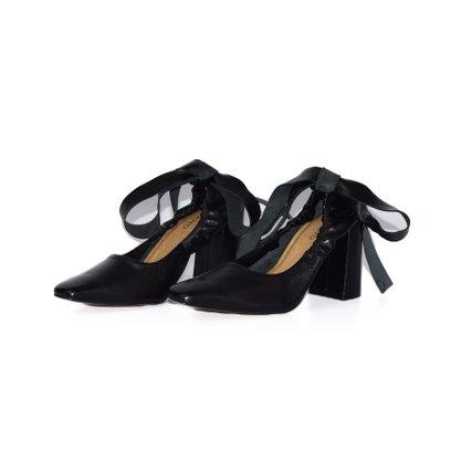 Sapato Carrano Elastico Amarração Preto