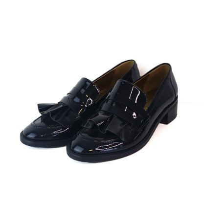 Sapato Carrano Verniz Babados Preto