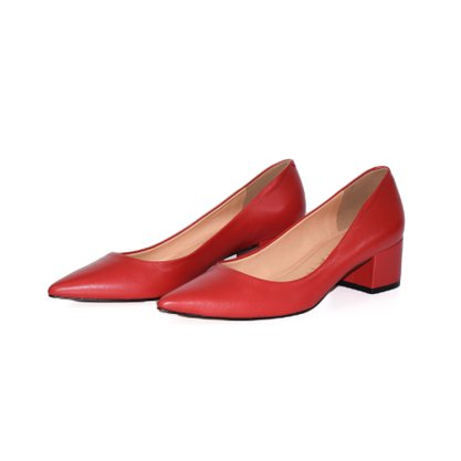 Sapato Feminino Carrano Salto Baixo Vermelho