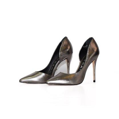 Sapato Scarpin Carrano Metalizado Silver