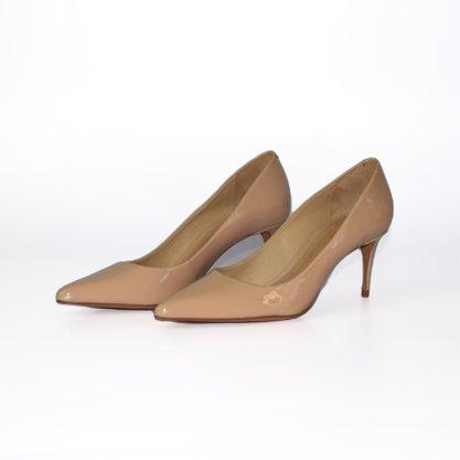 Sapato Scarpin Schutz Bege Verniz