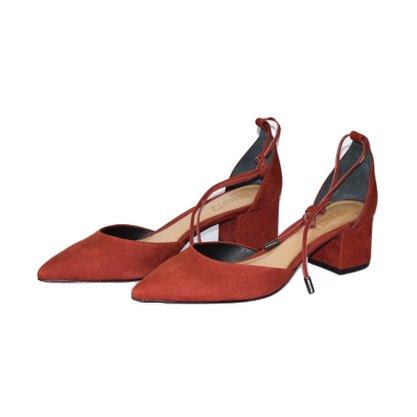 Sapato Schutz Nobuck Bordô Amarração