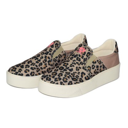 Tênis Slip On Fiever Animal Print Onça