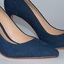 Sapato Scarpin Schutz Azul Nobuck